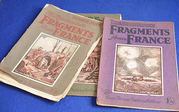 THREE COPYS OF CAPTAIN BRUCE BAIRNFATHER WW1 MAGAZINE, FRAGMENTS OF FRANCE.
